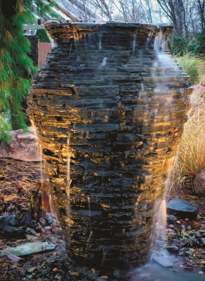 Outdoor Fountains | DIY Water Feature | Aquascape Fountain Kit