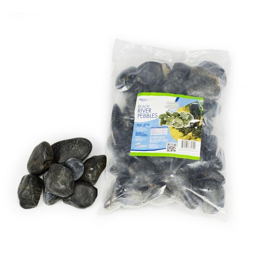 Decorative River Pebbles - Black