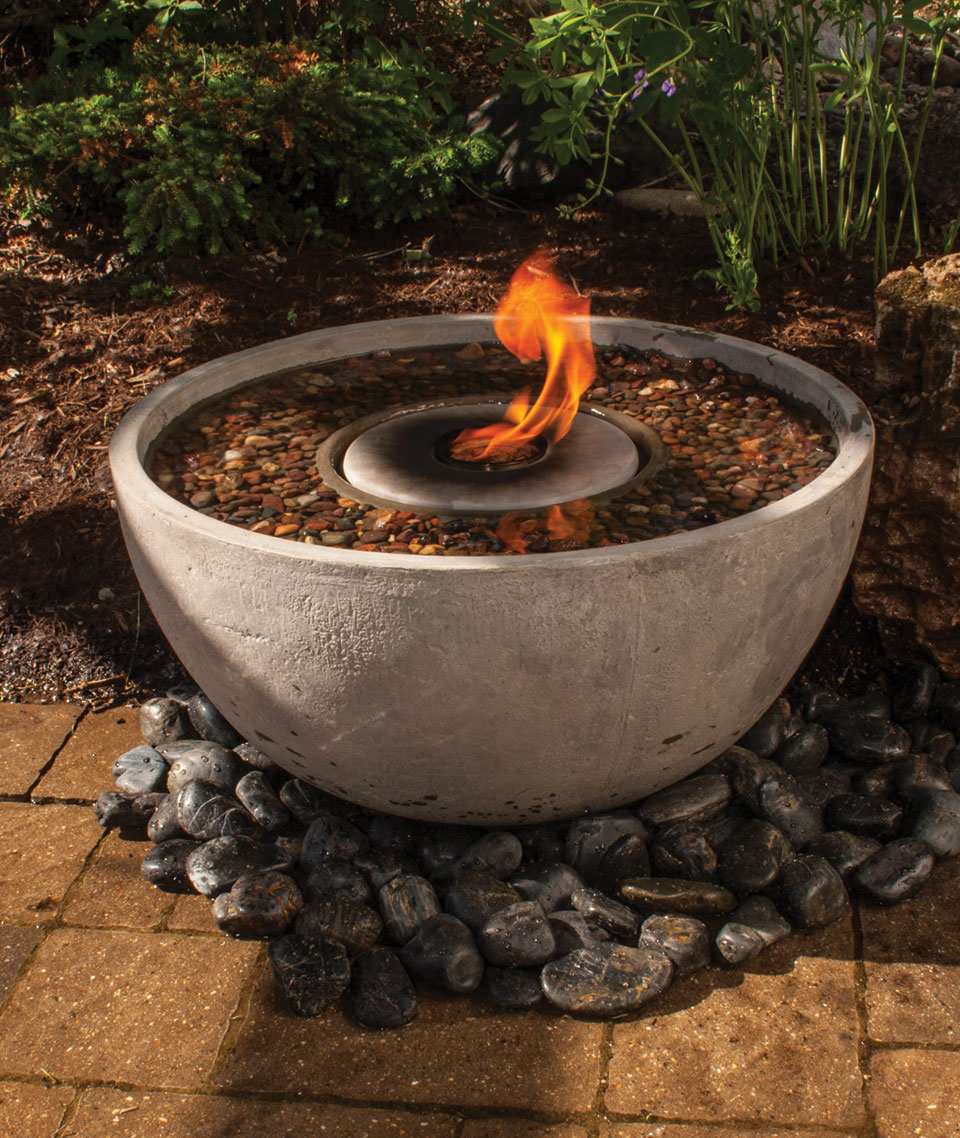 Delicieux Fire Fountain Self Contained Water Features