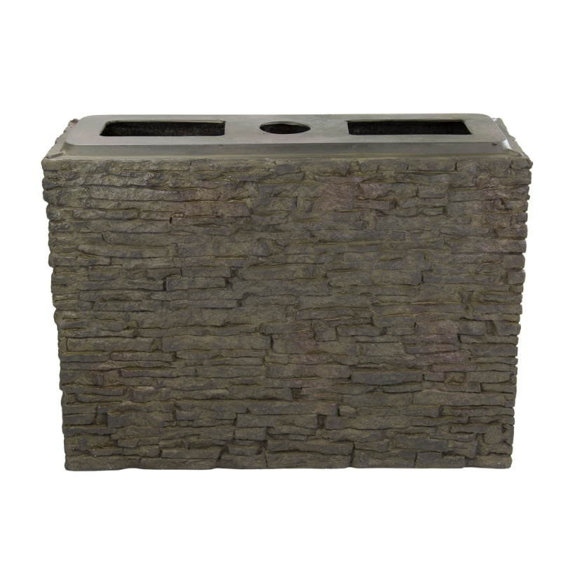78278 Large Straight Stacked Slate Wall Base