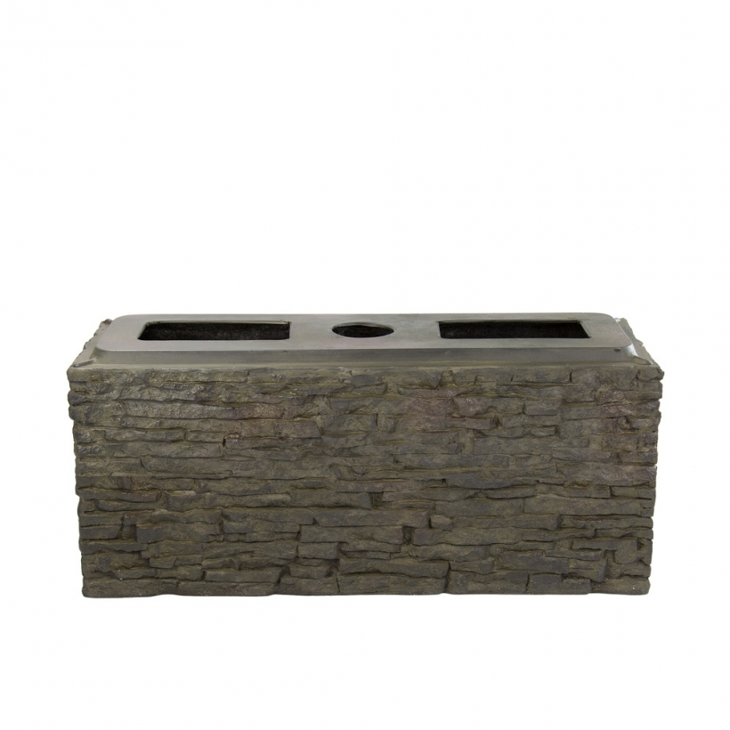 78279 Small Straight Stacked Slate Wall Base