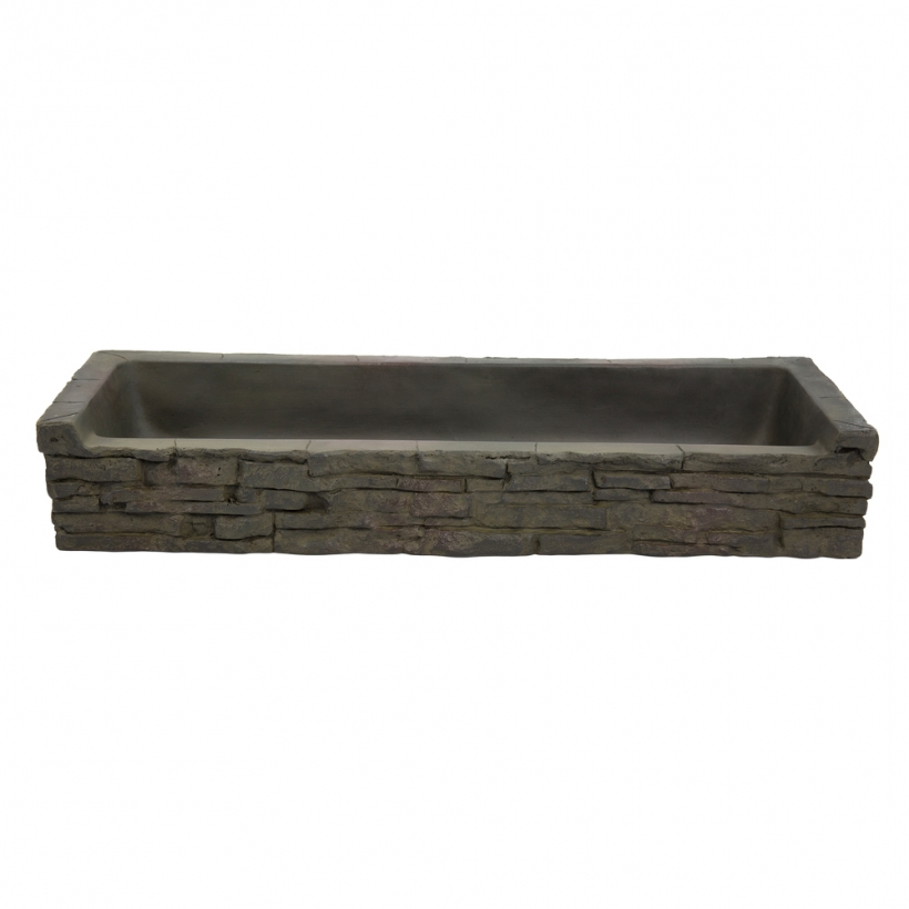 78281 Front-Spill Straight Stacked Slate Topper