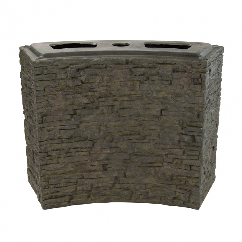 78282 Large Curved Stacked Slate Wall Base
