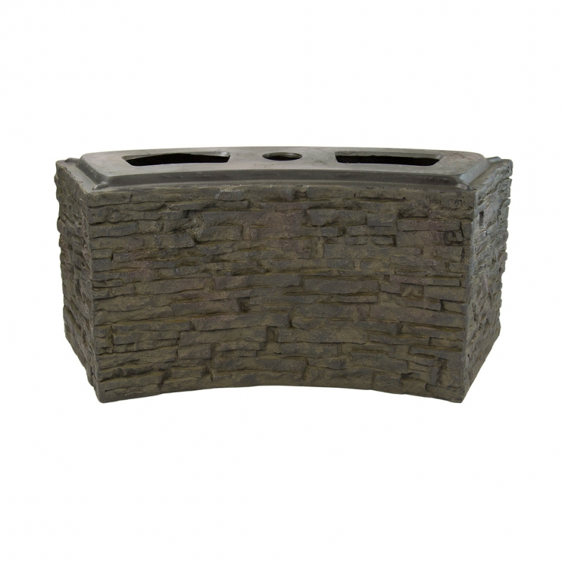 78283 Small Curved Stacked Slate Wall Base
