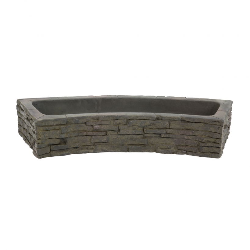 78286 Quad-Spill Curved Stacked Slate Topper