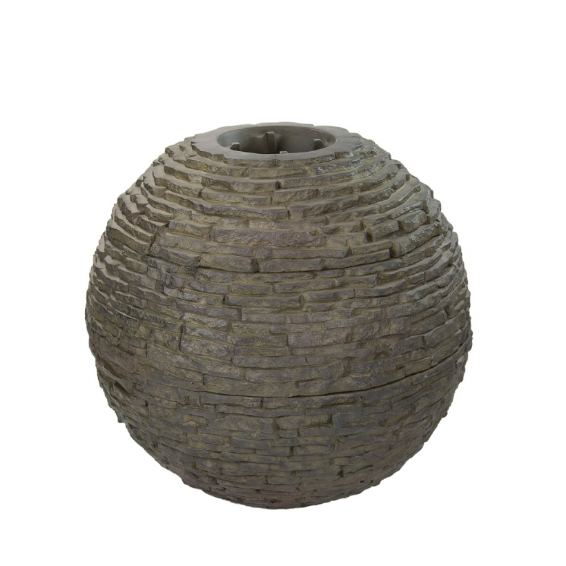 78288 Medium Stacked Slate Sphere