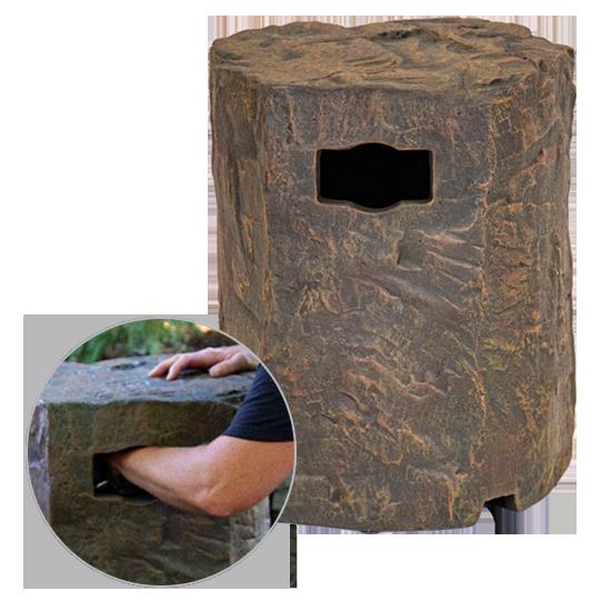 Faux Stone Propane Tank Cover
