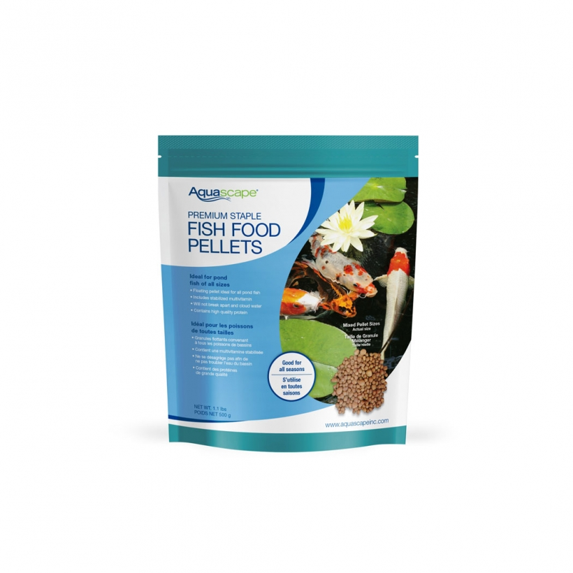 Premium Staple Fish Food - Mixed Pellets - 1.1 lbs