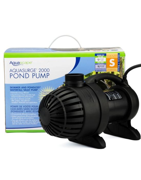 Aquasurge 2000 pond pump aquascape inc for 2000 gallon pond pump