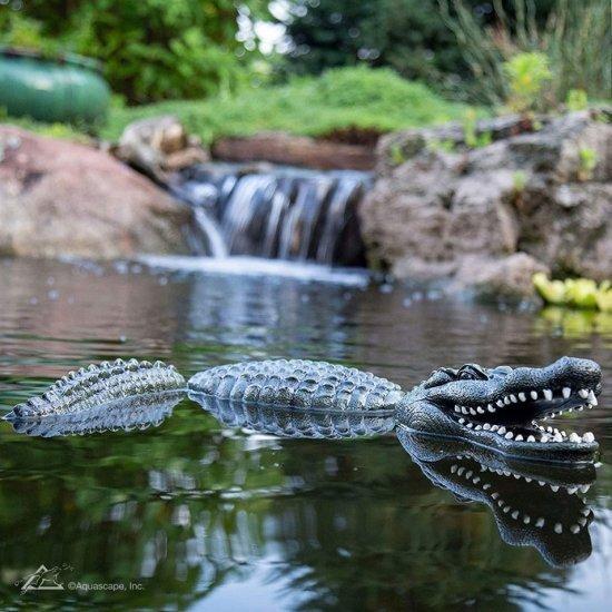 Floating Alligator Decoy for Pond Predator Control