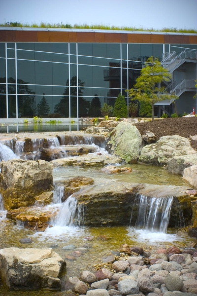 "Aquascape Headquarters in St. Charles, IL. AKA ""Aqualand"""