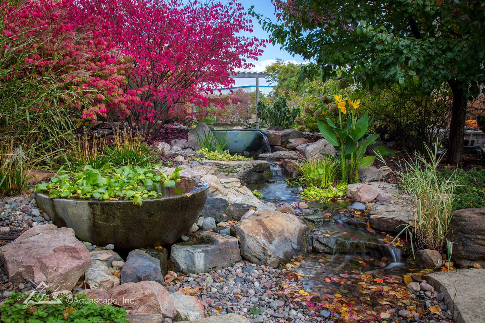 pondless waterfall with patio pond - aquascape, inc.