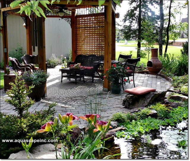 Outdoor living spaces aquascape inc for French style gazebo