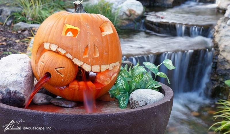 Scary Pumpkin Fountain