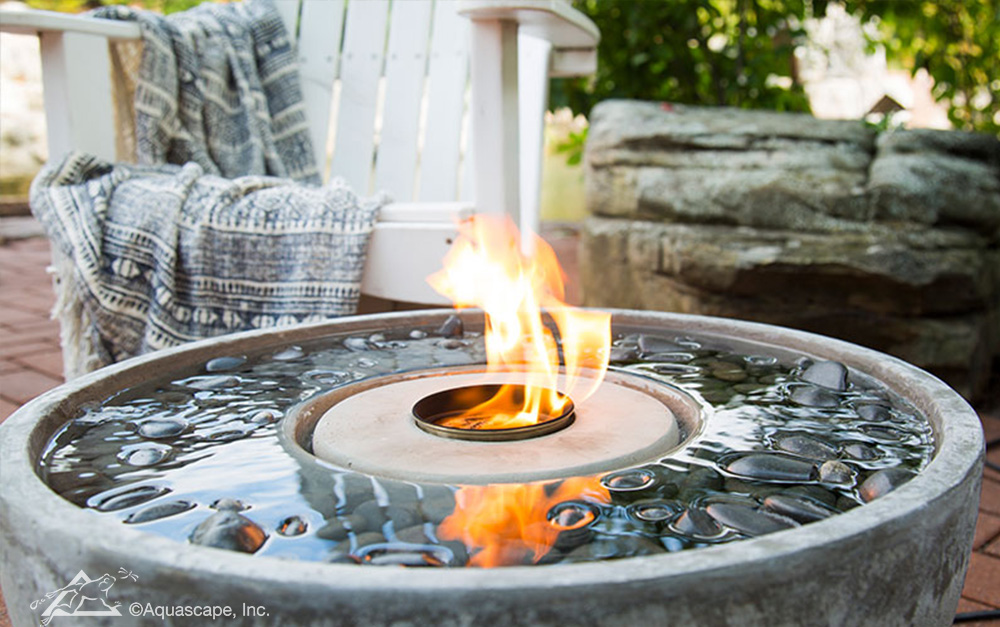 Outdoor Fountains Water Features Fire Fountains By Aquascape