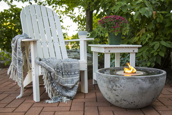 Fire Fountain for the Deck or Patio