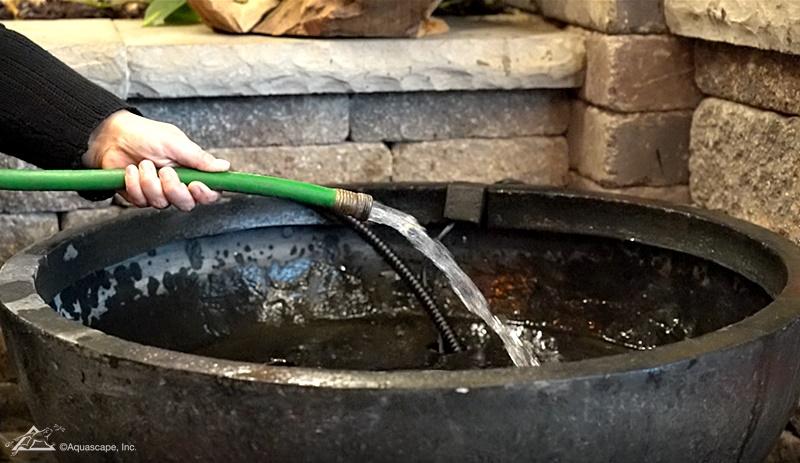 Filling an Aquascape Patio Pond