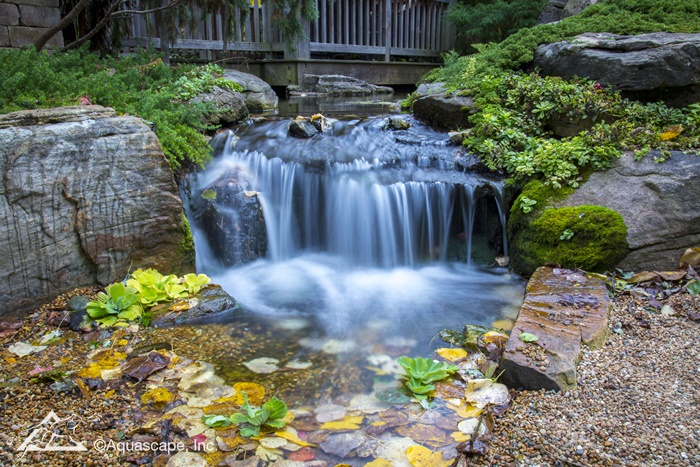 Pondless Waterfall with Pebble Beach