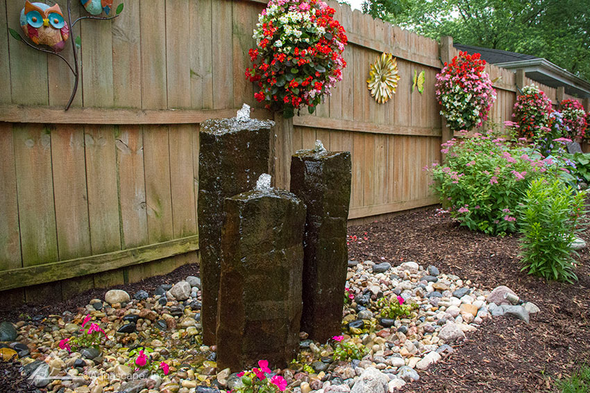 Mongolian Basalt Columns Set of 3 - Landscape Fountain Kit
