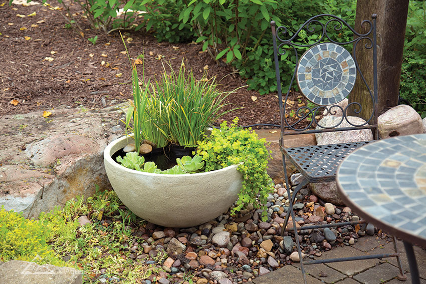 Patio Pond Desert Granite