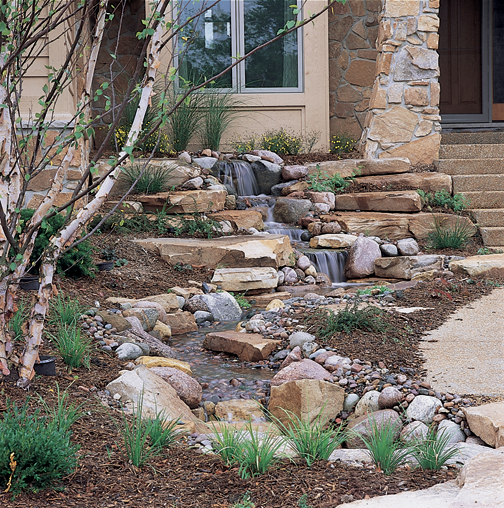 A Pondless® Watefall is basically a waterfall without a pond, and is sure to make your home stand out from all the others when you place it near the entry to your home!