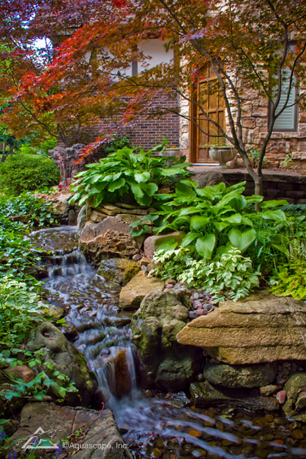 Shallow streams and Pondless® Waterfalls are a great option for those who have small children since there is no pond to contend with.