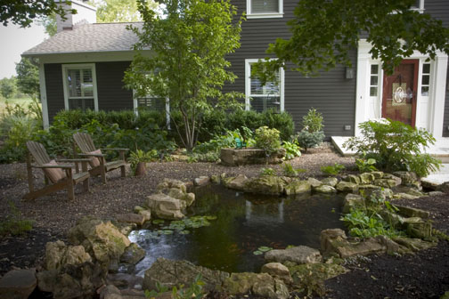 An ecosystem pond can also transform your home's appearance from Plain Jane to the house everybody talks about as they drive by.