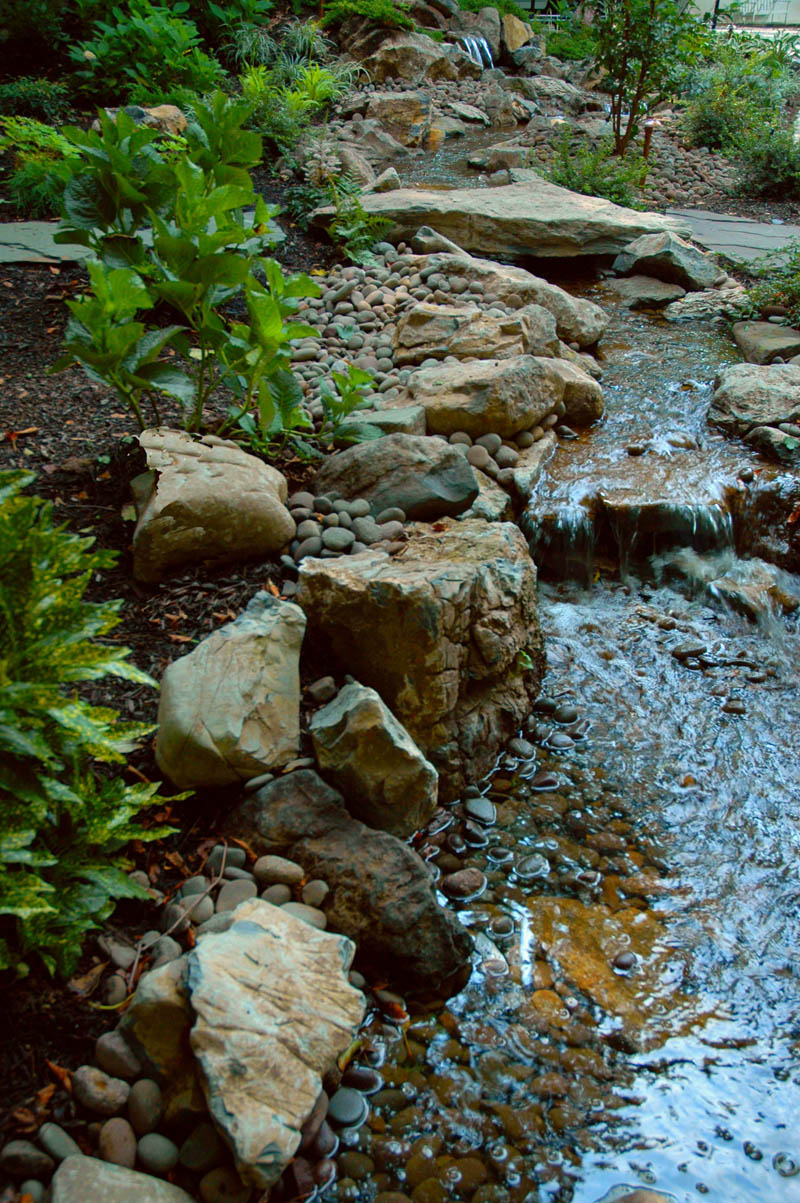 Landscape Edging. Create a Rocky Shoreline.