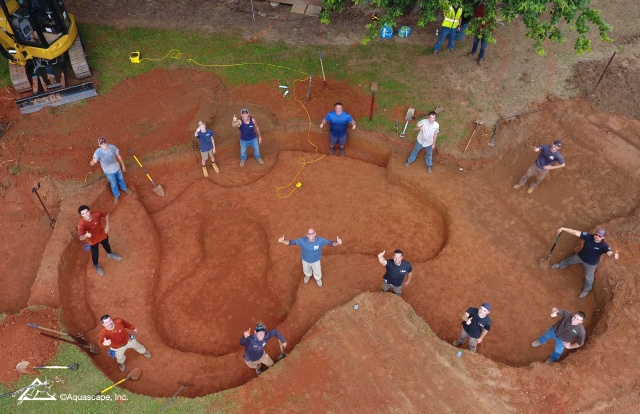 Pond Excavation at the Home of Shaquille O'Neal