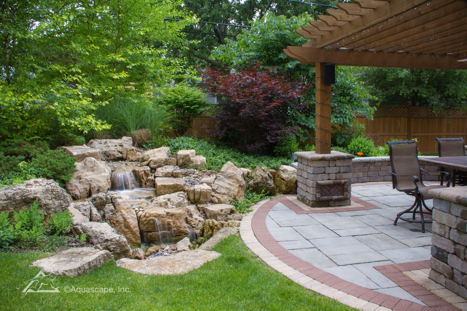 pondless waterfall and patio aquascape inc