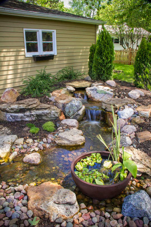 enjoys listening to Enjoy the soothing sound of running water in your landscape.