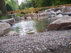 Gravel Edge for Pond