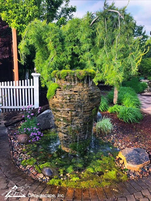 Stacked Slate Urn Fountain by Aquascape