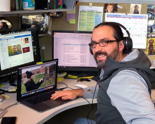 Flavio Ramirez, videographer at Aquascape, Inc.