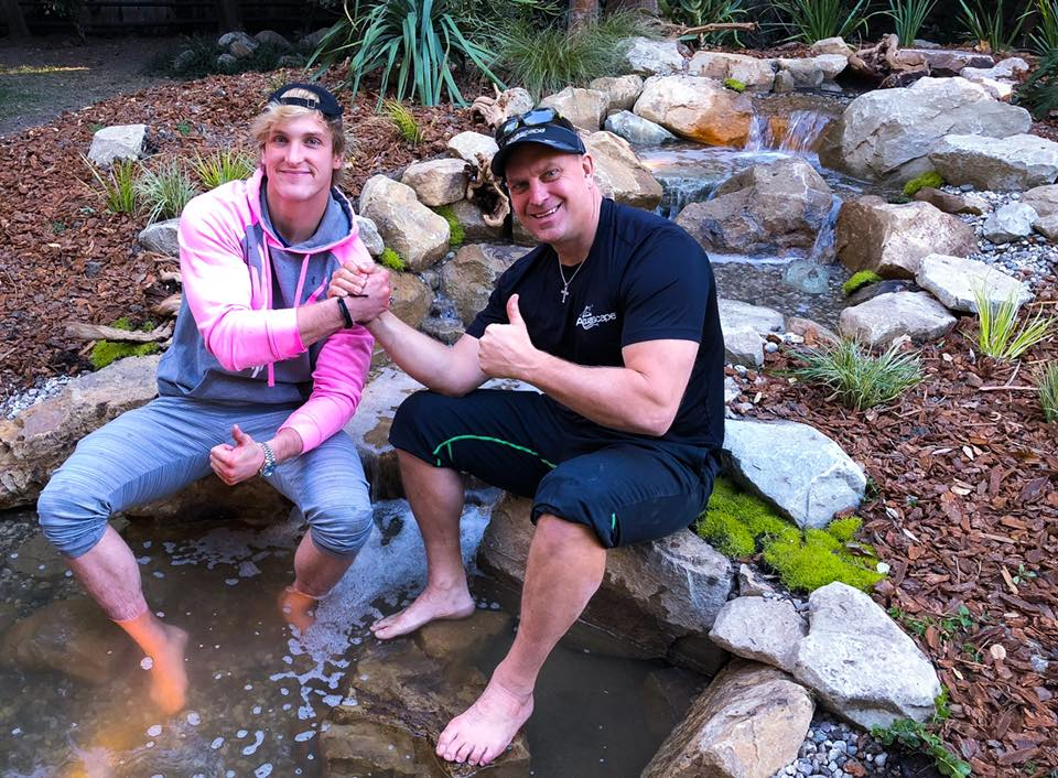 Logan Paul with the Pond Guy, Greg Wittstock