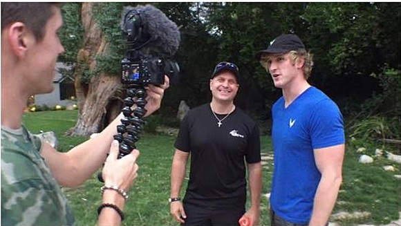 Filming with Logan Paul