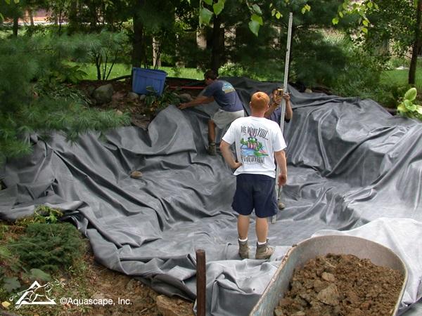 Aquascape Pond Construction in Progress