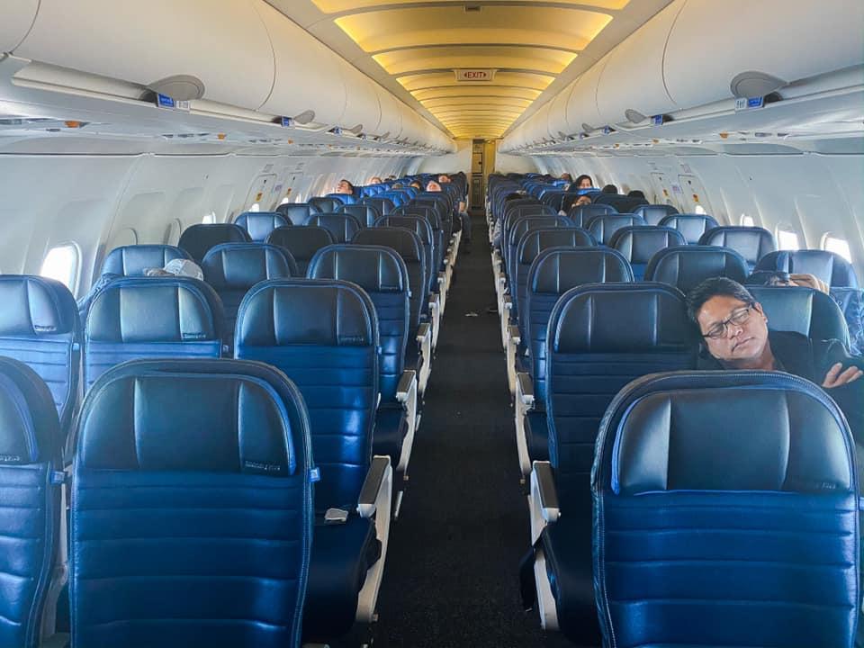 Empty Plane to Seattle During Coronavirus Outbreak