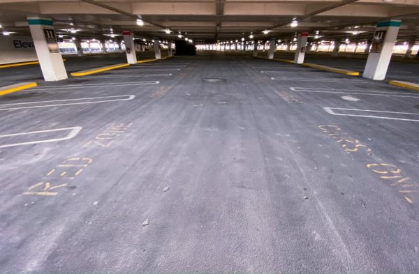 Empty Parking Lot at O'Hare Airport