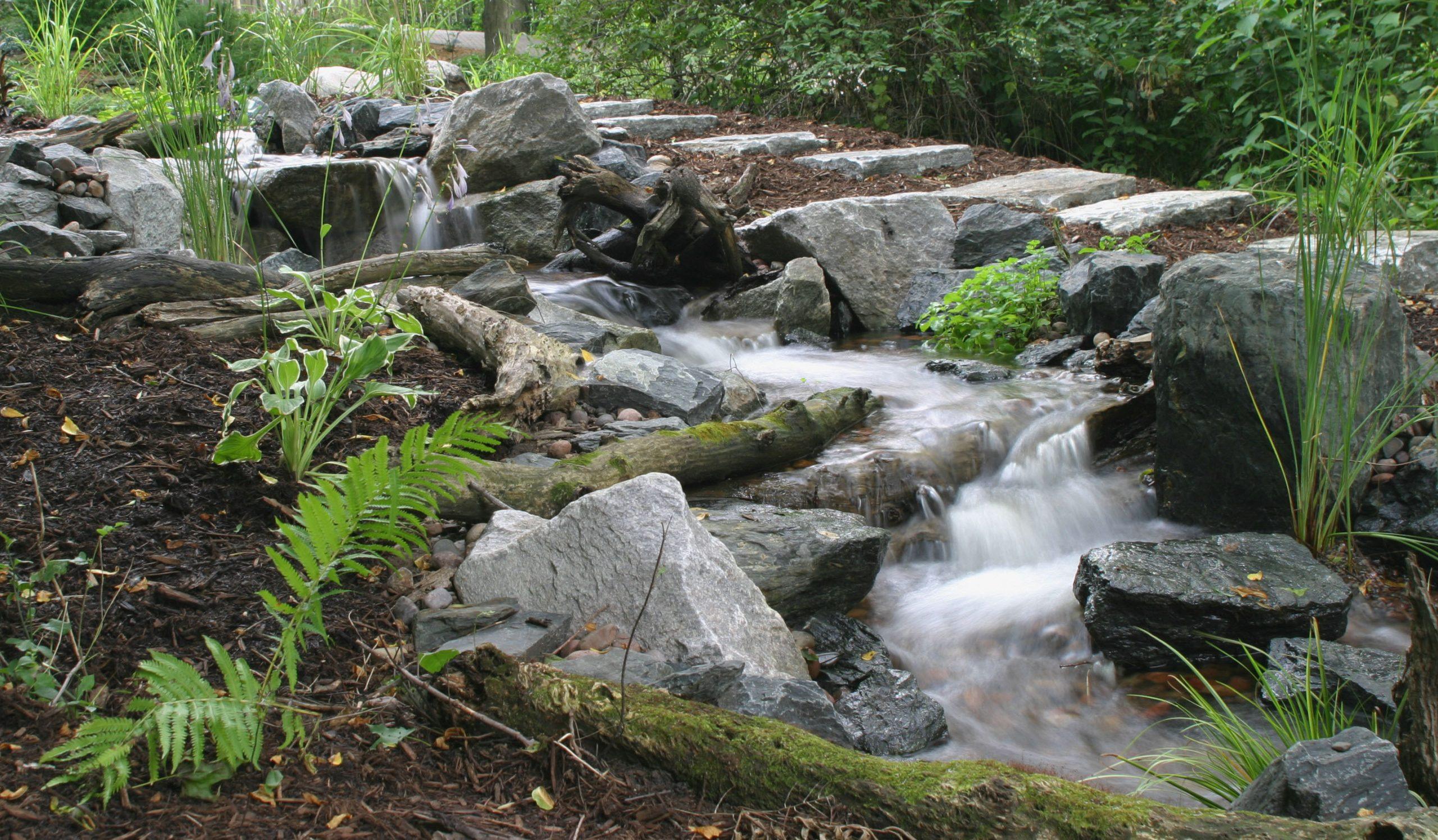 Aqua Blue Stones in Waterfall