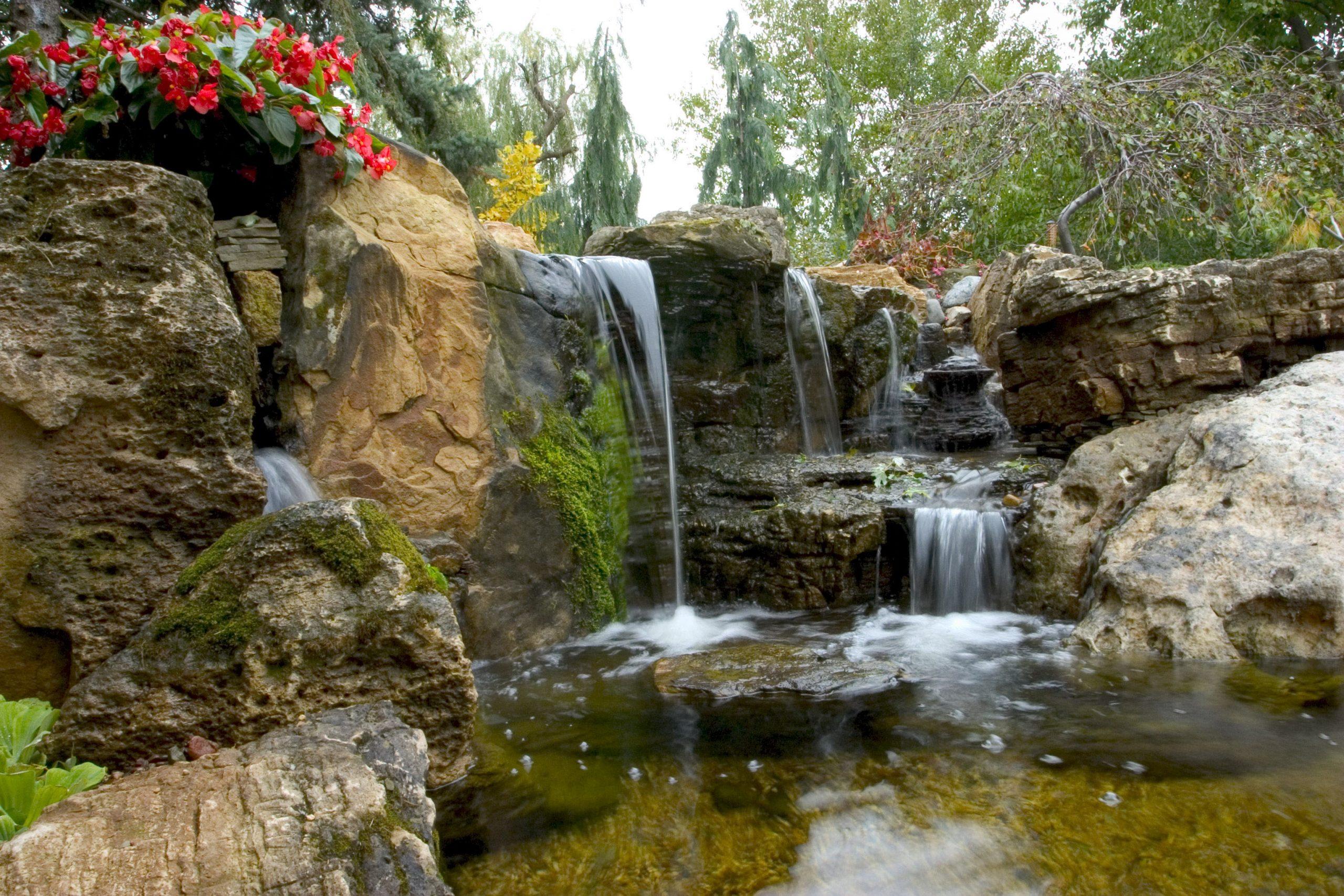 Waterfall in Brian Helfrich Backyard